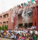 student drop the water collage favrll party, all student bath,all student setting collage main door